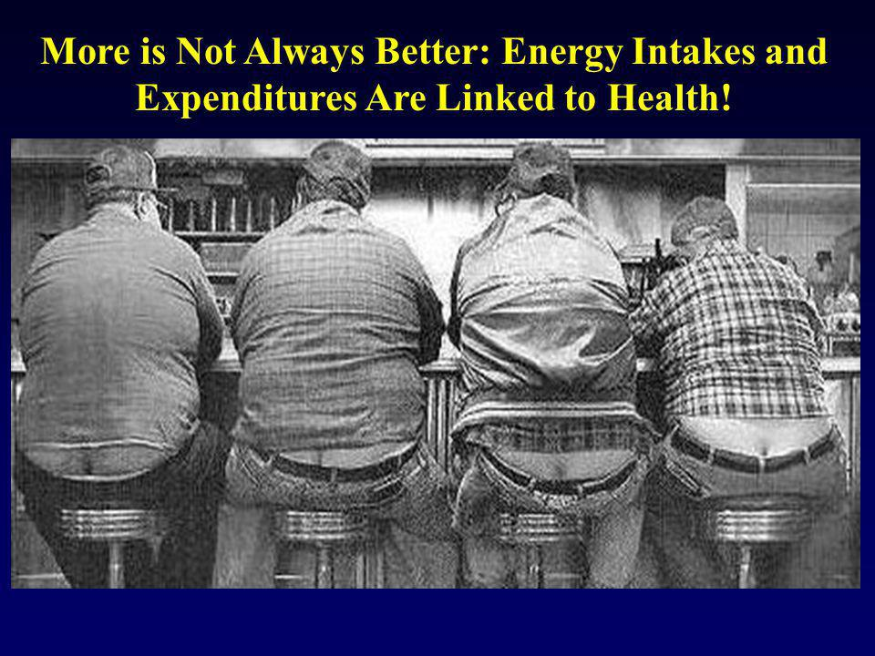 More is Not Always Better: Energy Intakes and Expenditures Are Linked to Health!