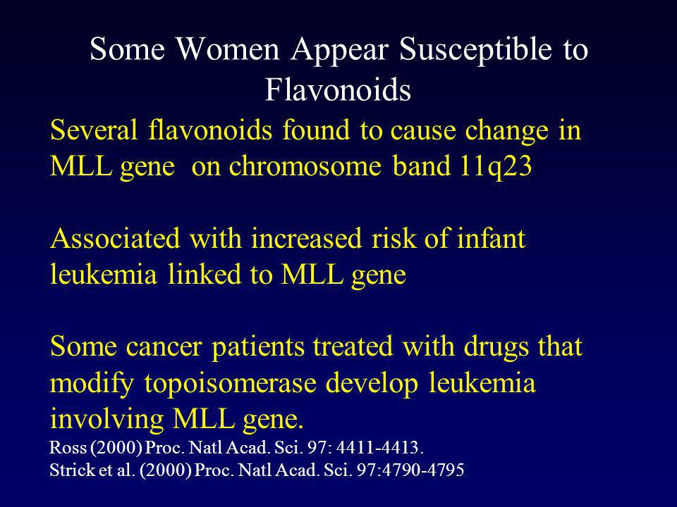 Some Women Appear Susceptible to Flavonoids