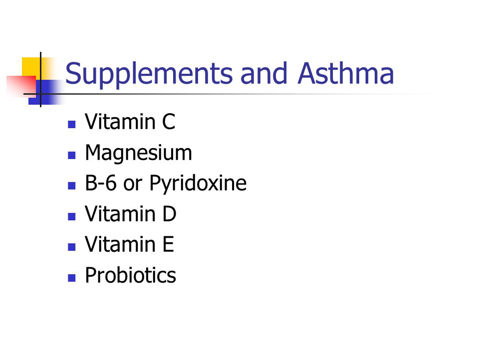 Supplements and Asthma