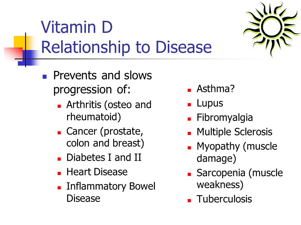 Vitamin D Relationship to Disease
