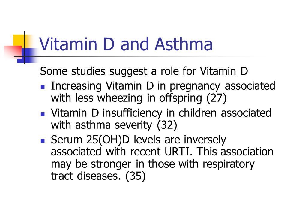 Vitamin D and Asthma Some studies suggest a role for Vitamin D