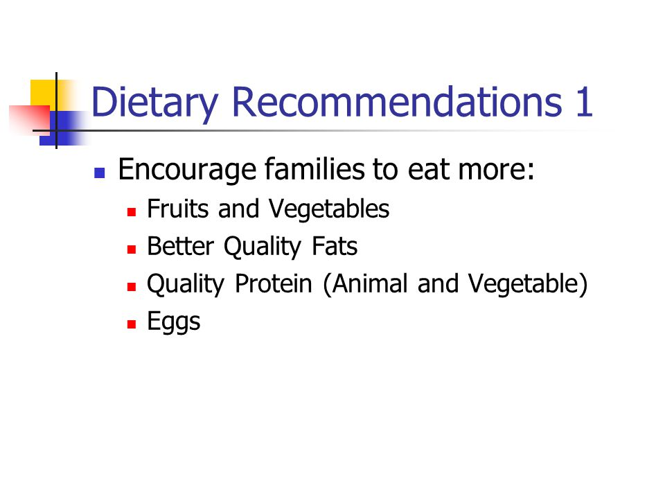 Dietary Recommendations 1