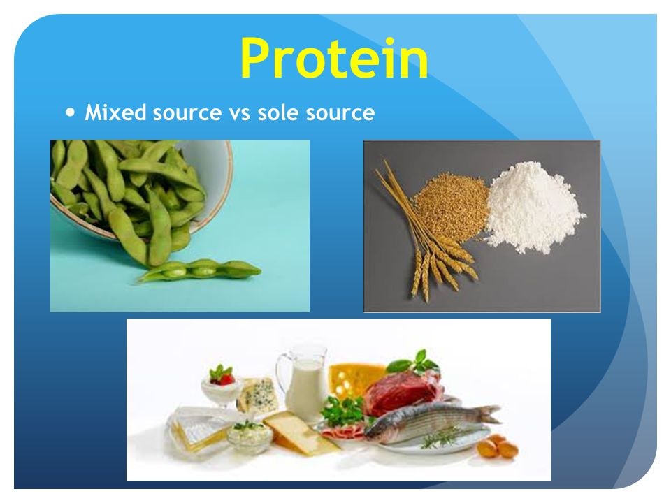Protein Mixed source vs sole source