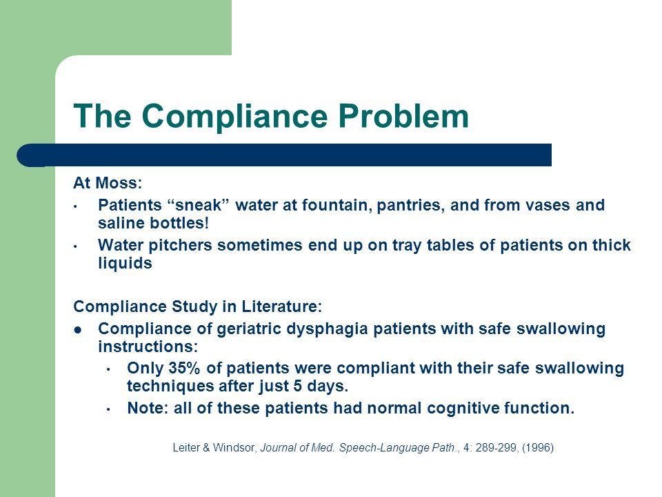 The Compliance Problem