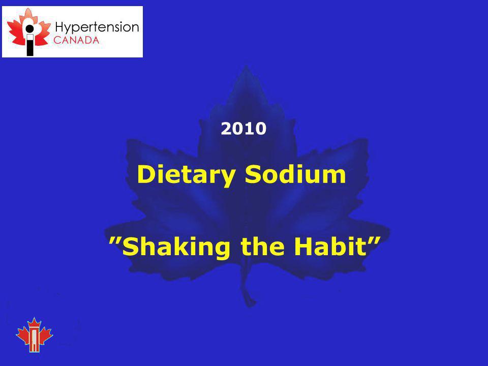 Dietary Sodium Shaking the Habit