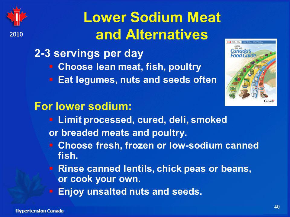 Lower Sodium Meat and Alternatives