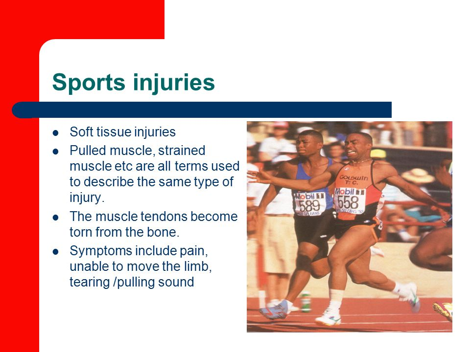 Sports injuries Soft tissue injuries
