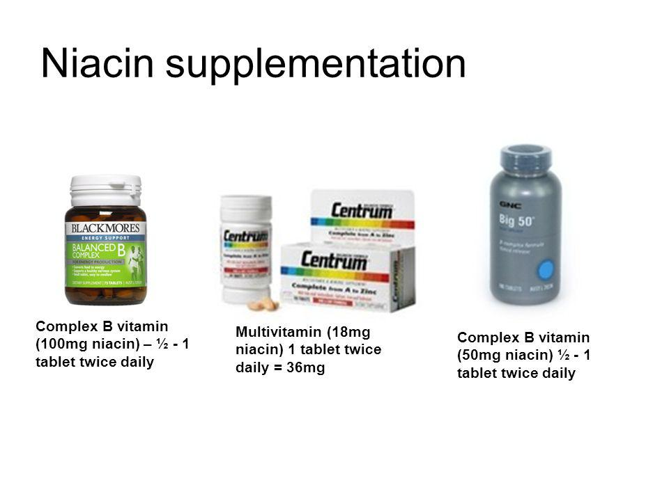 Niacin supplementation