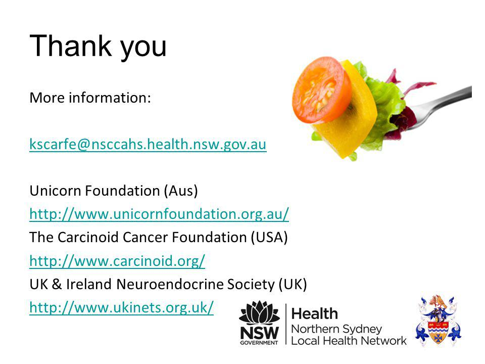 Thank you More information: kscarfe@nsccahs.health.nsw.gov.au