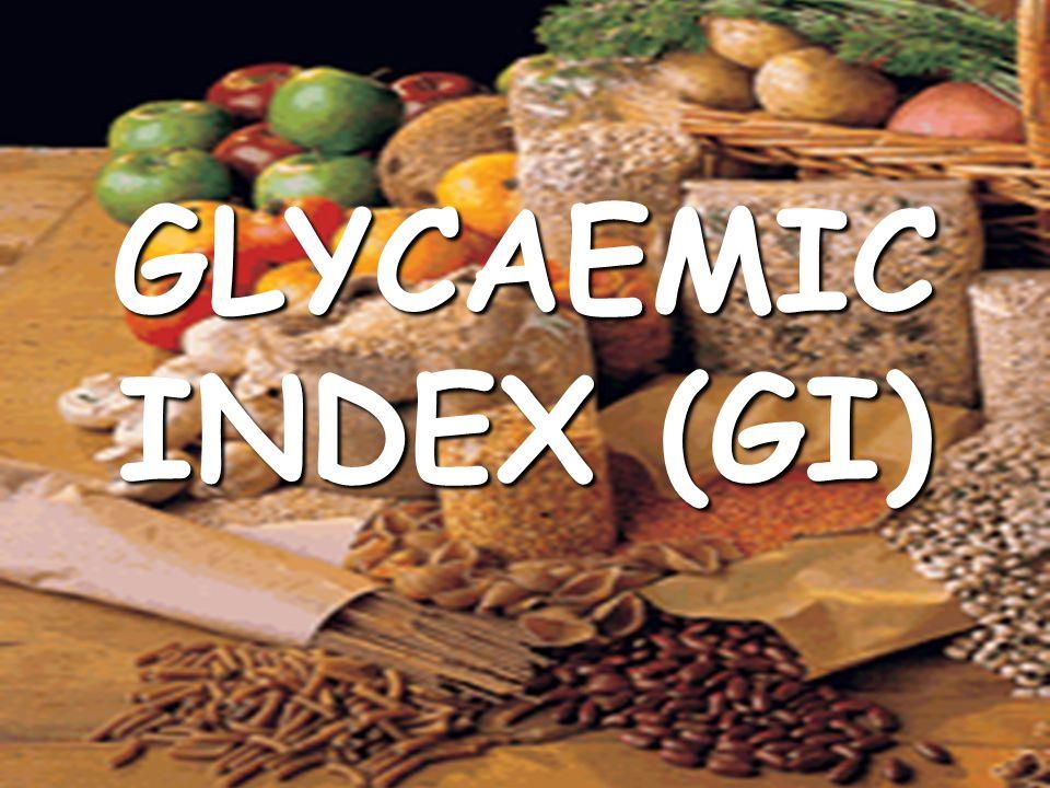GLYCAEMIC INDEX (GI) © HEB