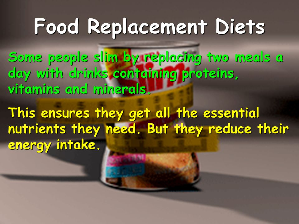 Food Replacement Diets