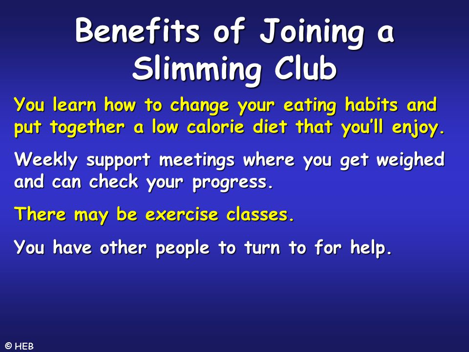 Benefits of Joining a Slimming Club