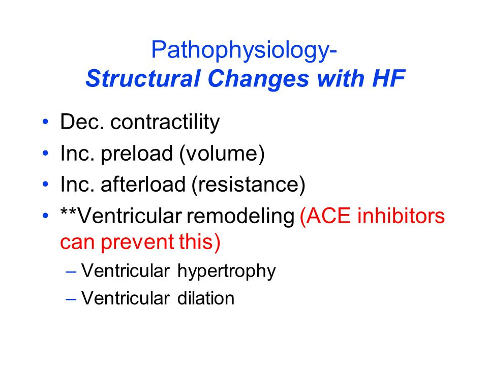 Pathophysiology- Structural Changes with HF