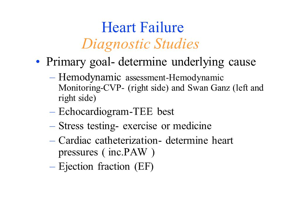 Heart Failure Diagnostic Studies