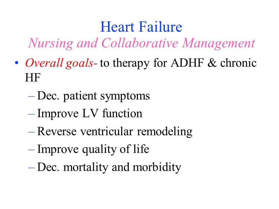 Heart Failure Nursing and Collaborative Management