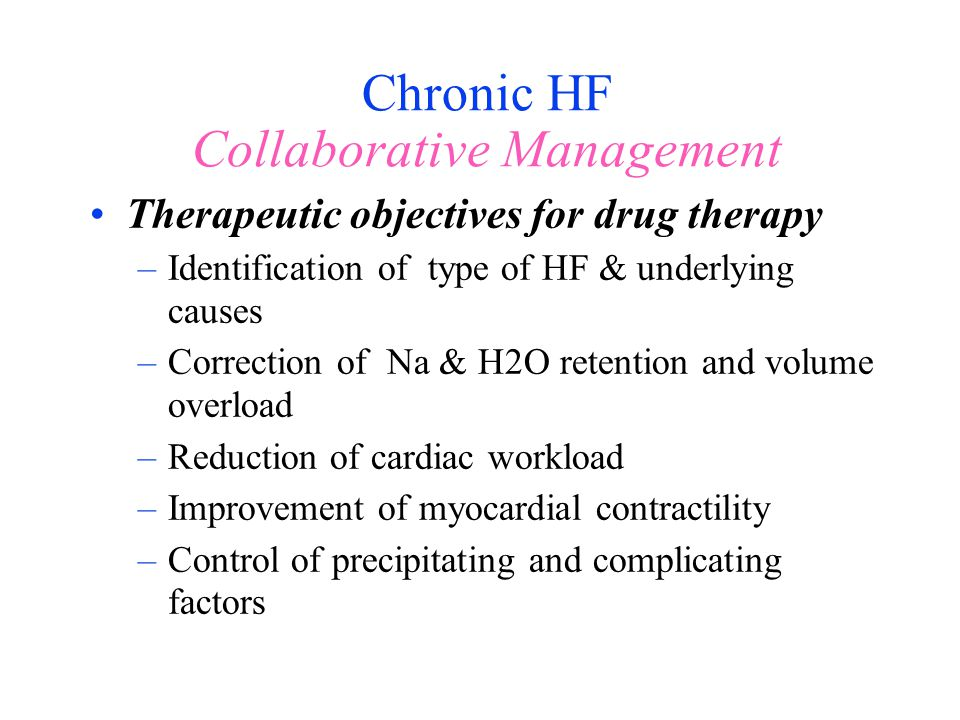 Chronic HF Collaborative Management