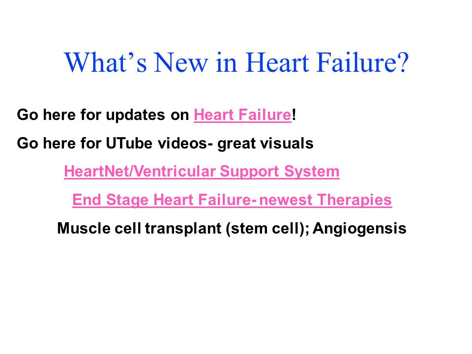 What's New in Heart Failure