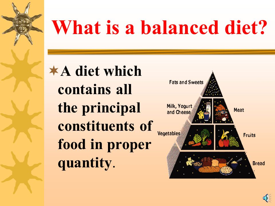 What is a balanced diet.