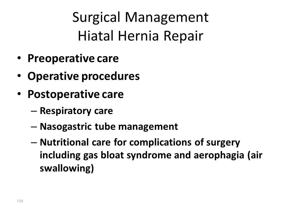 Surgical Management Hiatal Hernia Repair