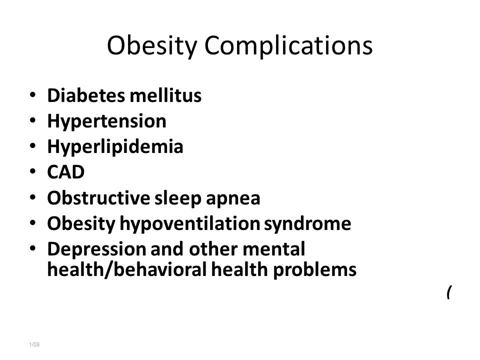 Obesity Complications