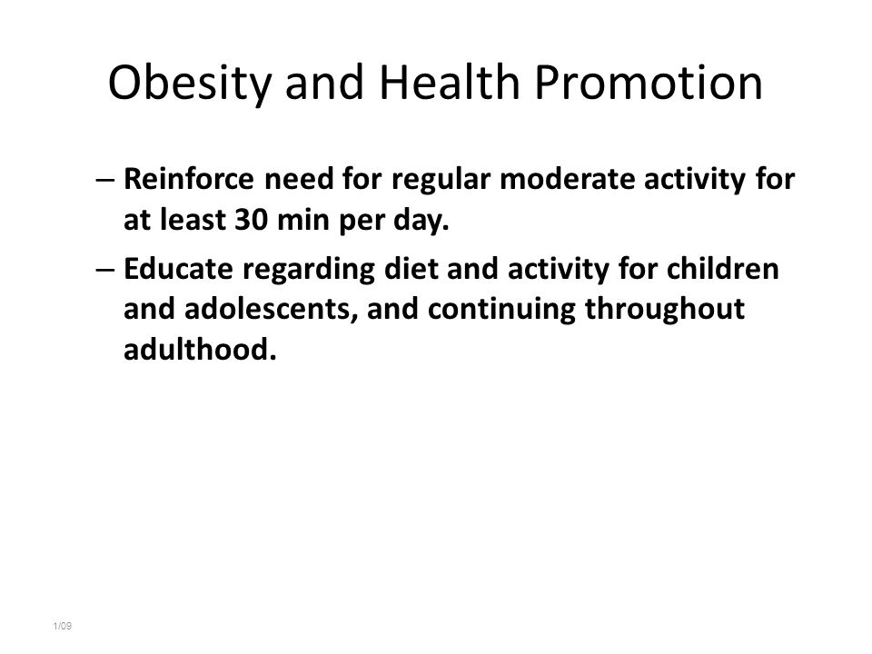 Obesity and Health Promotion
