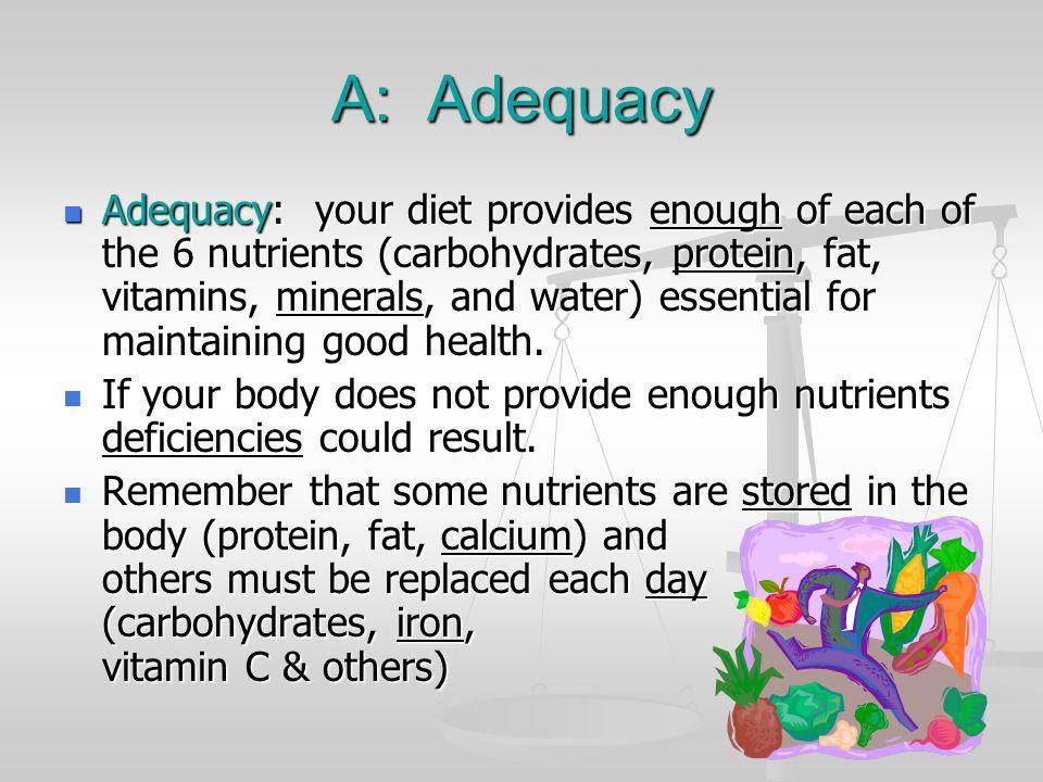 A: Adequacy