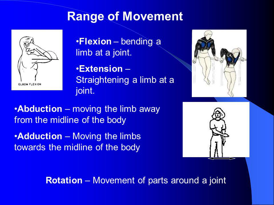 Rotation – Movement of parts around a joint