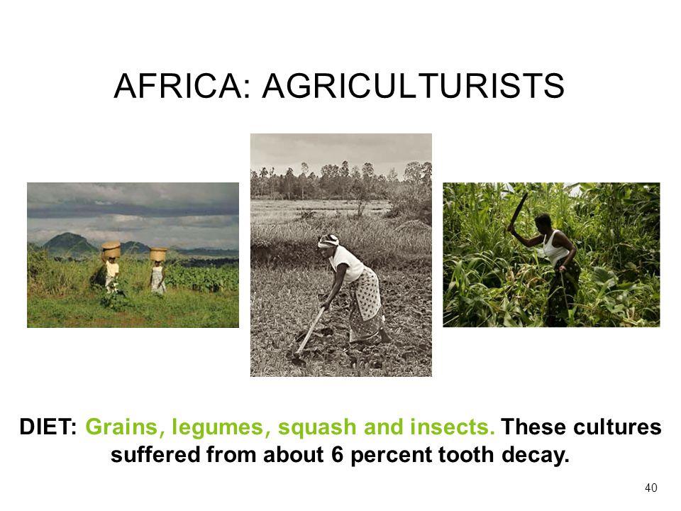 AFRICA: AGRICULTURISTS