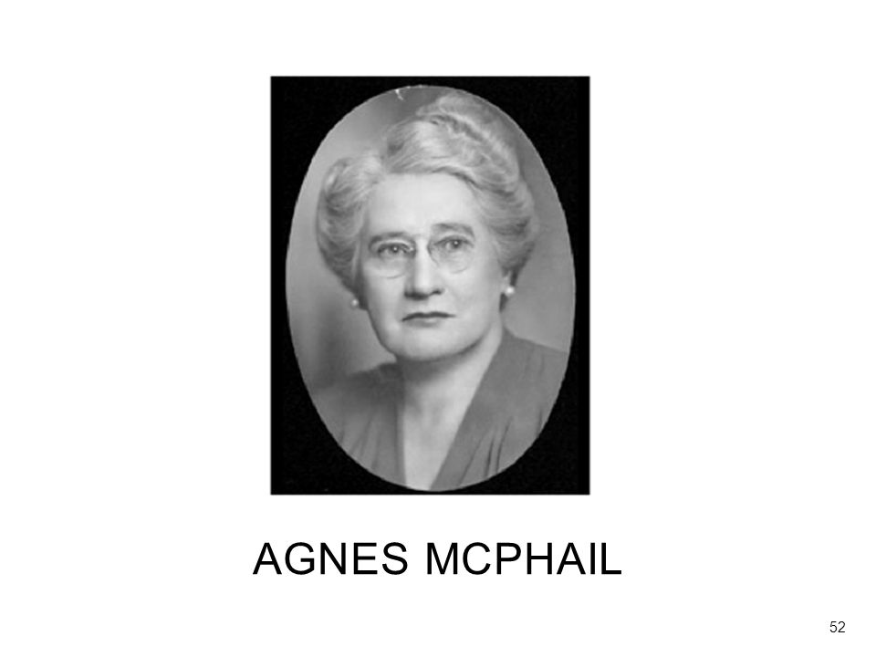 This is Agnes McPhail, a great reformer in Canada
