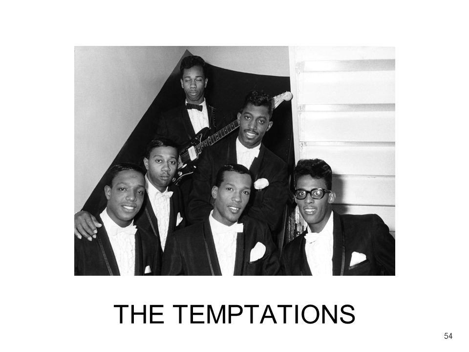 Let's compare The Teenagers with the Temptations, a generation later