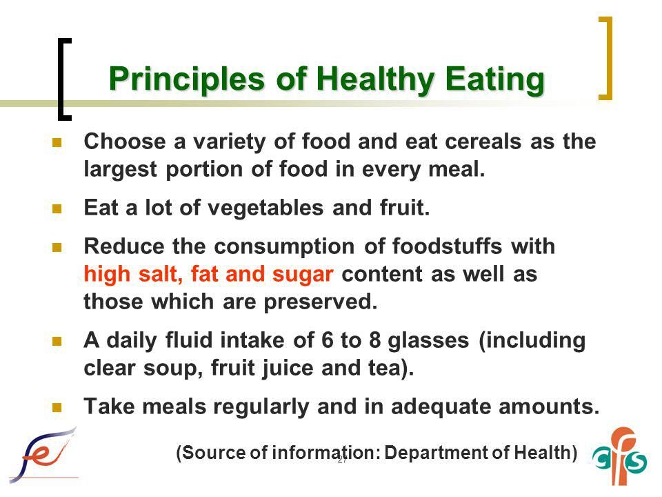 Principles of Healthy Eating