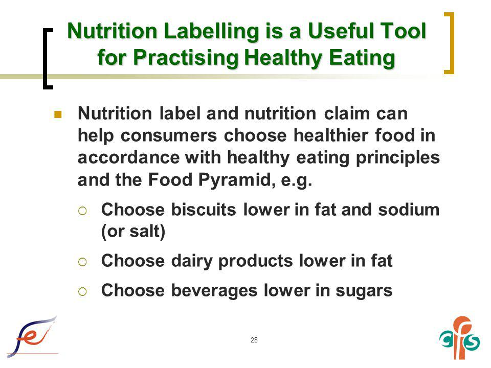 Nutrition Labelling is a Useful Tool for Practising Healthy Eating