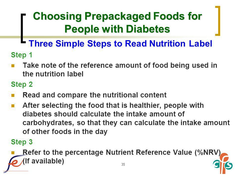 Choosing Prepackaged Foods for People with Diabetes