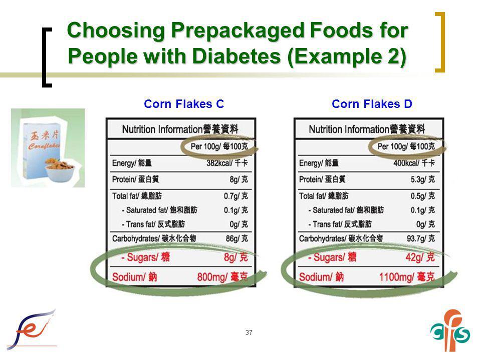 Choosing Prepackaged Foods for People with Diabetes (Example 2)