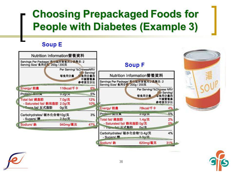 Choosing Prepackaged Foods for People with Diabetes (Example 3)