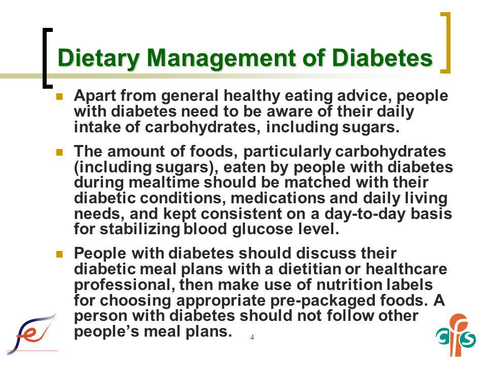Dietary Management of Diabetes