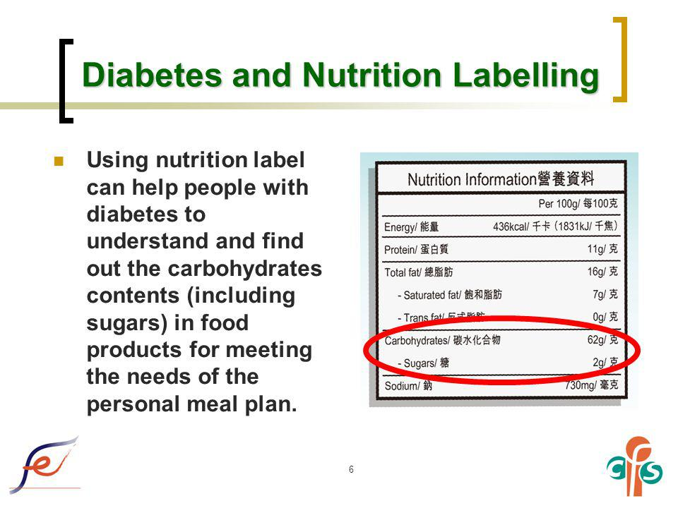 Diabetes and Nutrition Labelling