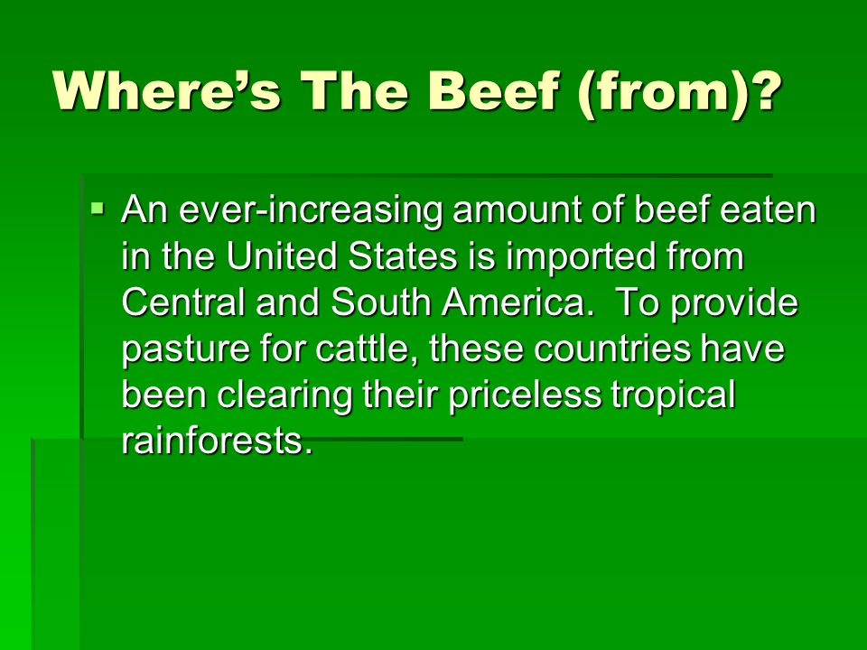 Where's The Beef (from)