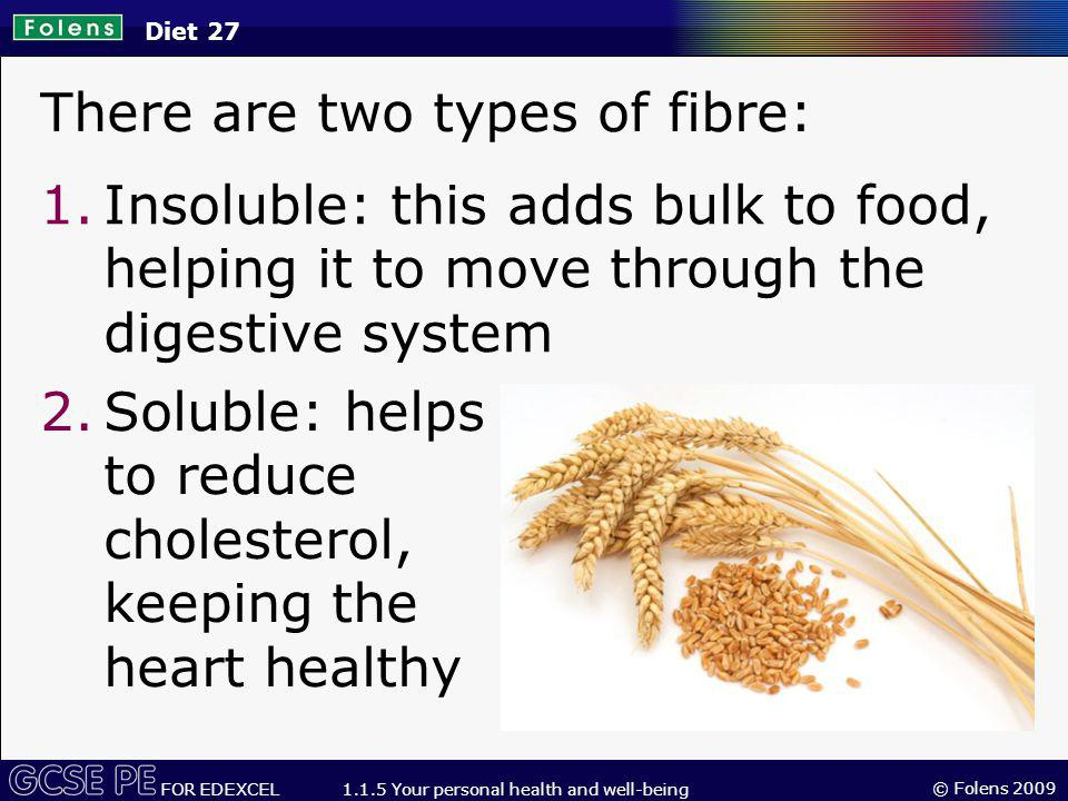 There are two types of fibre:
