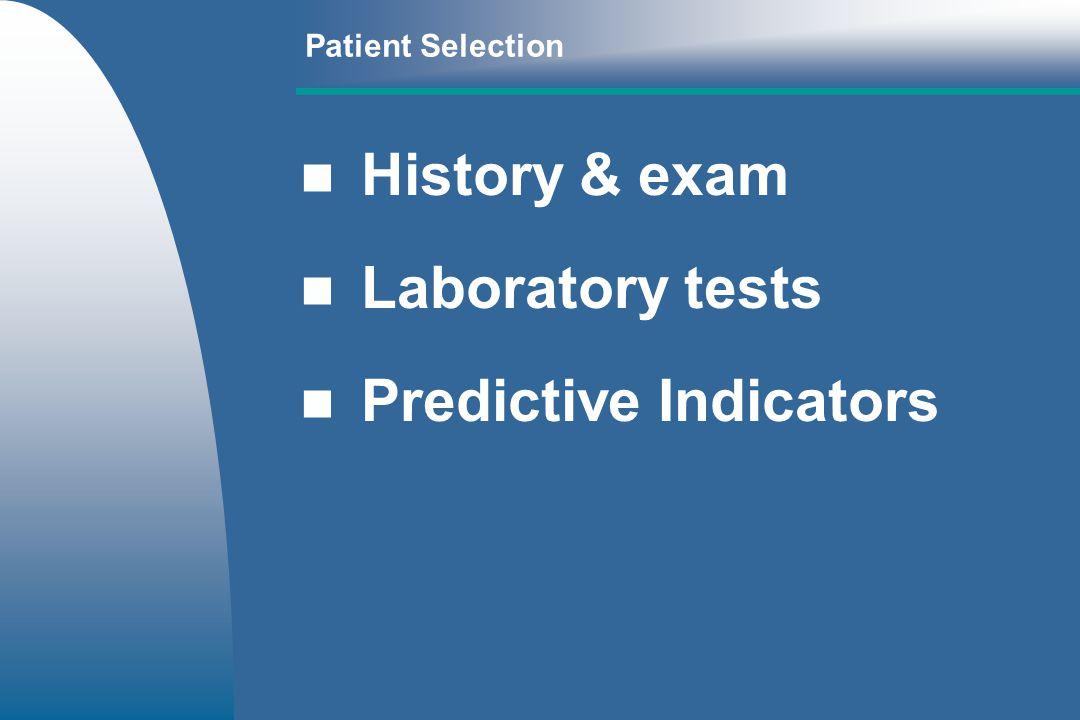 Predictive Indicators