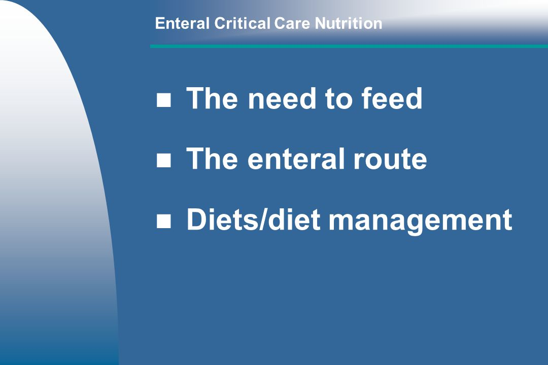 Diets/diet management