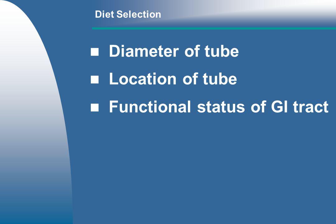 Functional status of GI tract
