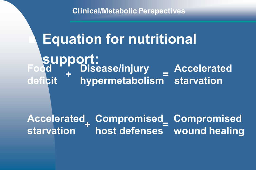 Equation for nutritional support: