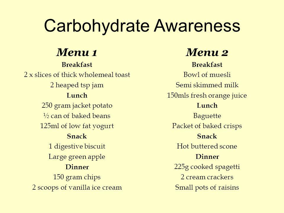 Carbohydrate Awareness