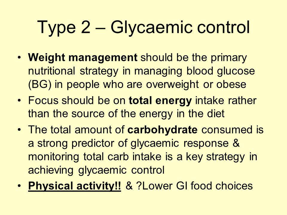 Type 2 – Glycaemic control