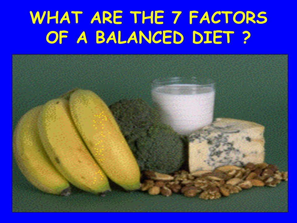 WHAT ARE THE 7 FACTORS OF A BALANCED DIET