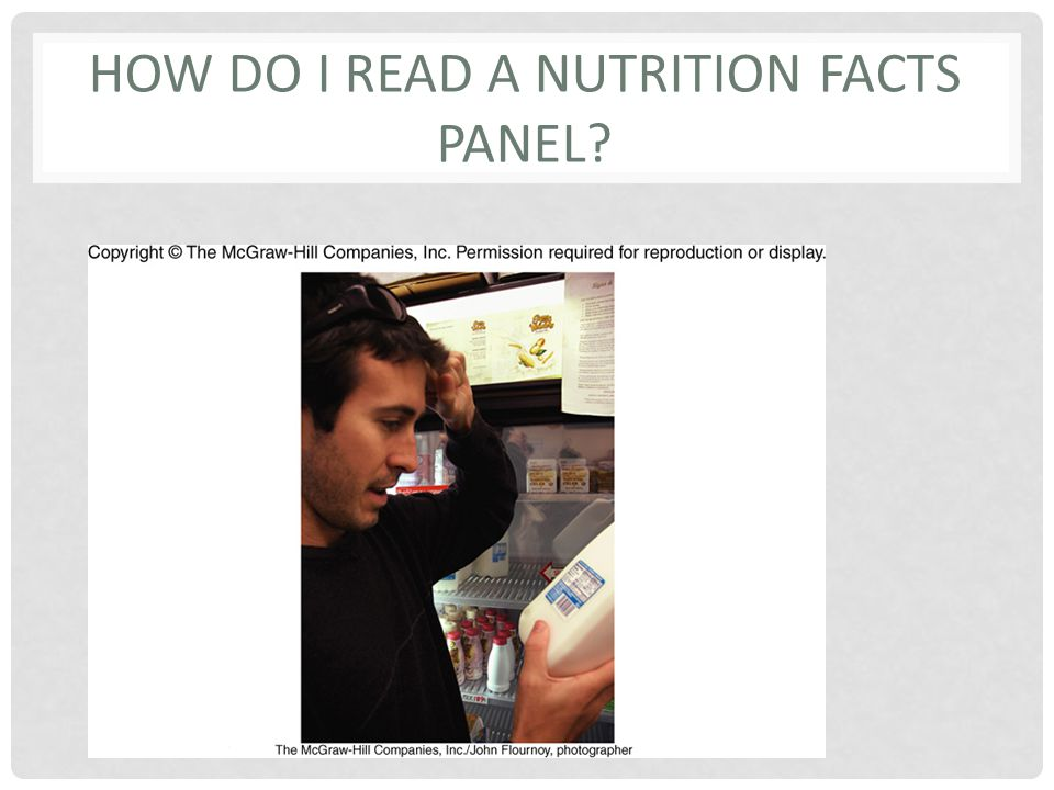 How do I read a Nutrition Facts Panel