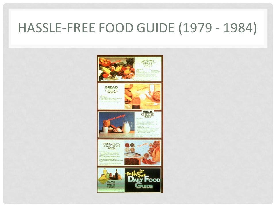 Hassle-Free Food Guide (1979 - 1984)