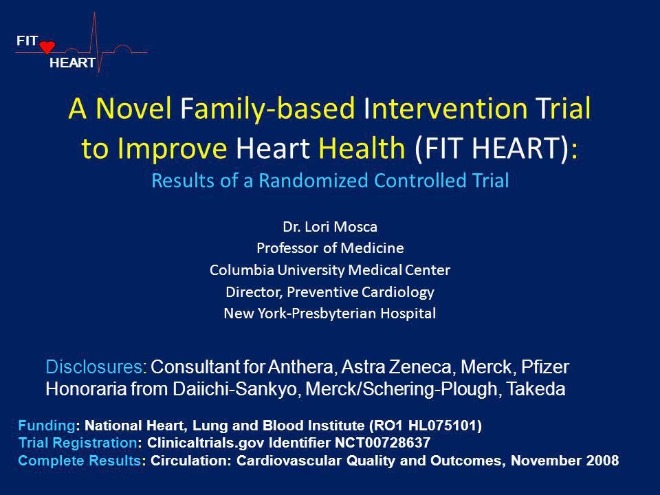 FIT HEART. A Novel Family-based Intervention Trial to Improve Heart Health (FIT HEART): Results of a Randomized Controlled Trial.