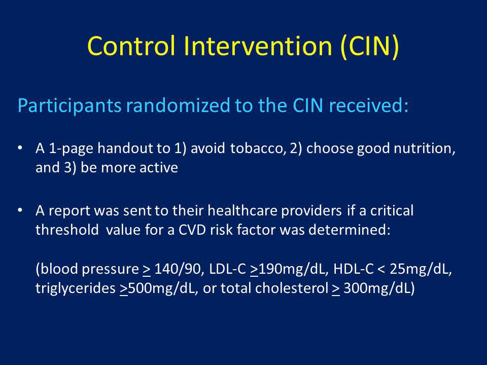 Control Intervention (CIN)